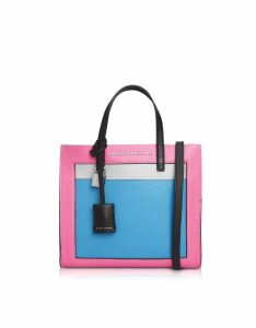 Marc Jacobs Grainy Leather The Mini Grind Colorblocked Tote Bag
