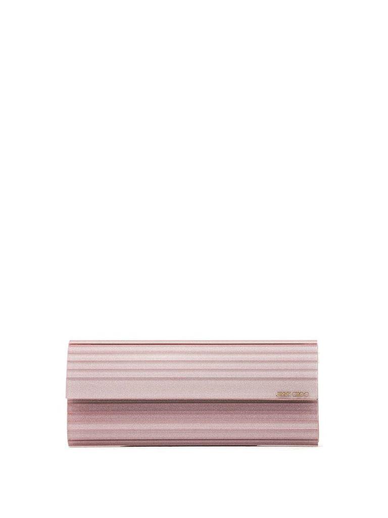 Jimmy Choo Jimmy Choo Pink Sweetie Glitter Clutch