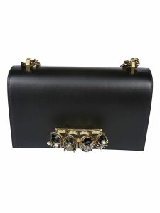 Alexander Mcqueen Bejeweled Insect Shoulder Bag