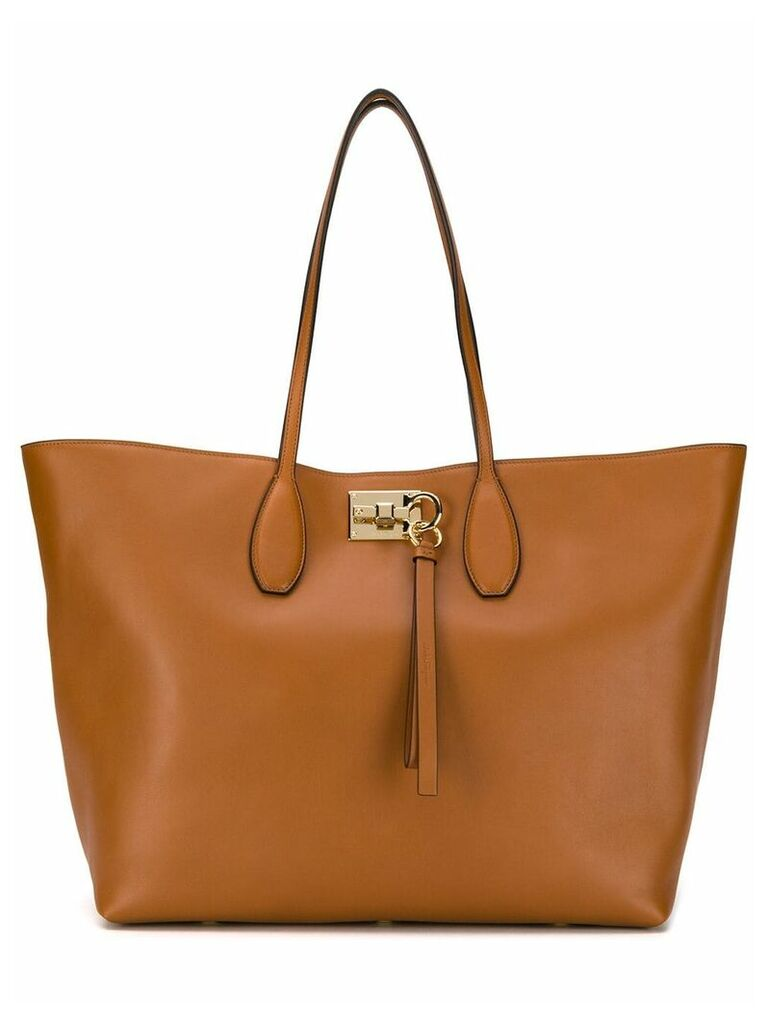 Salvatore Ferragamo Studio tote bag - Brown