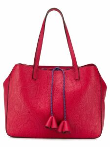 Etro embossed paisley tote - Red