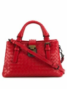 Bottega Veneta mini Intrecciato tote bag - Red