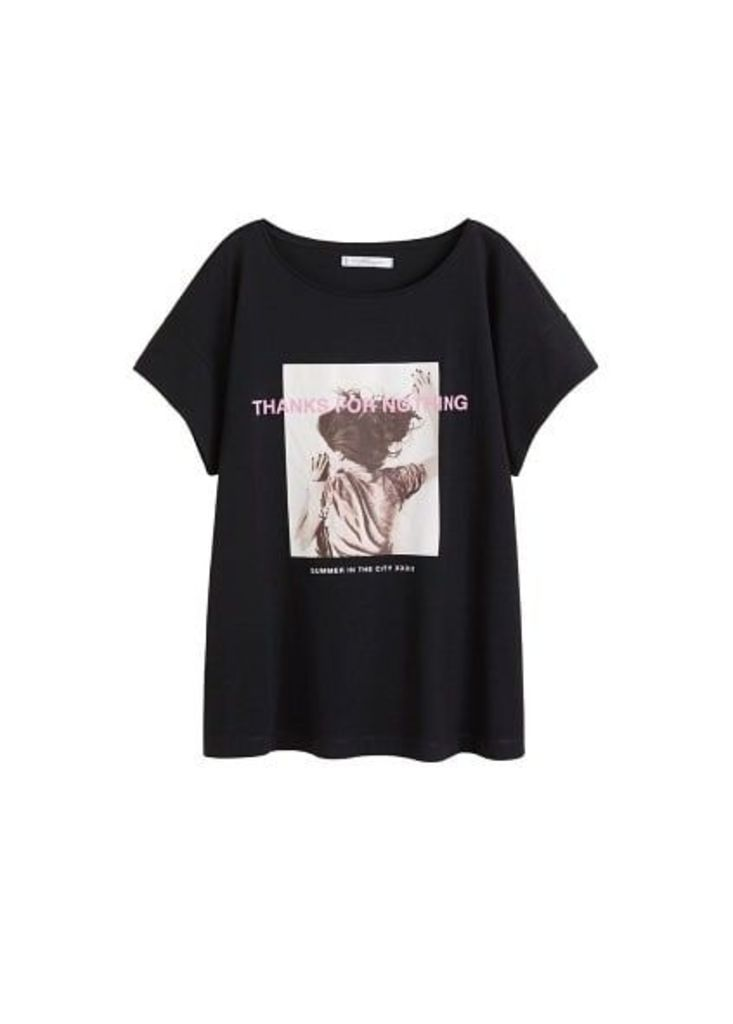 Printed message t-shirt