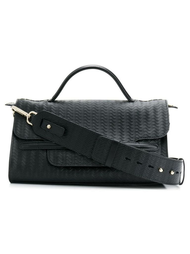 Zanellato Nina woven textured bag - Black