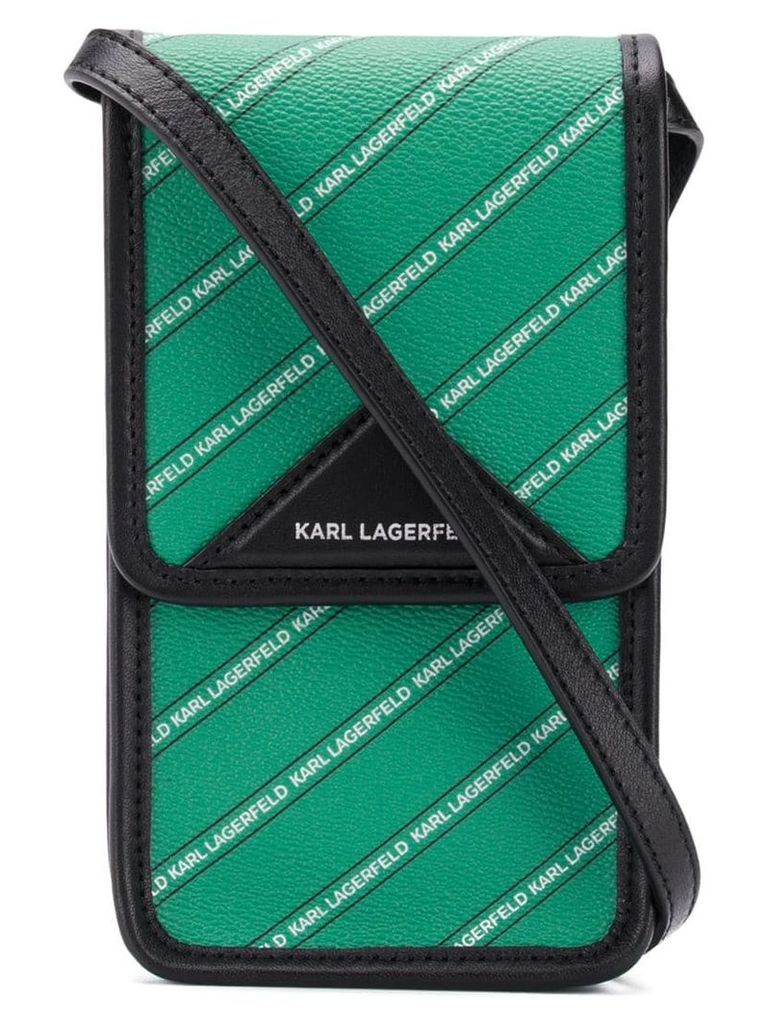 Karl Lagerfeld K/Stripe Logo Super Mini bag - Green