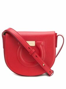 Salvatore Ferragamo embossed Gancini crossbody bag - Red