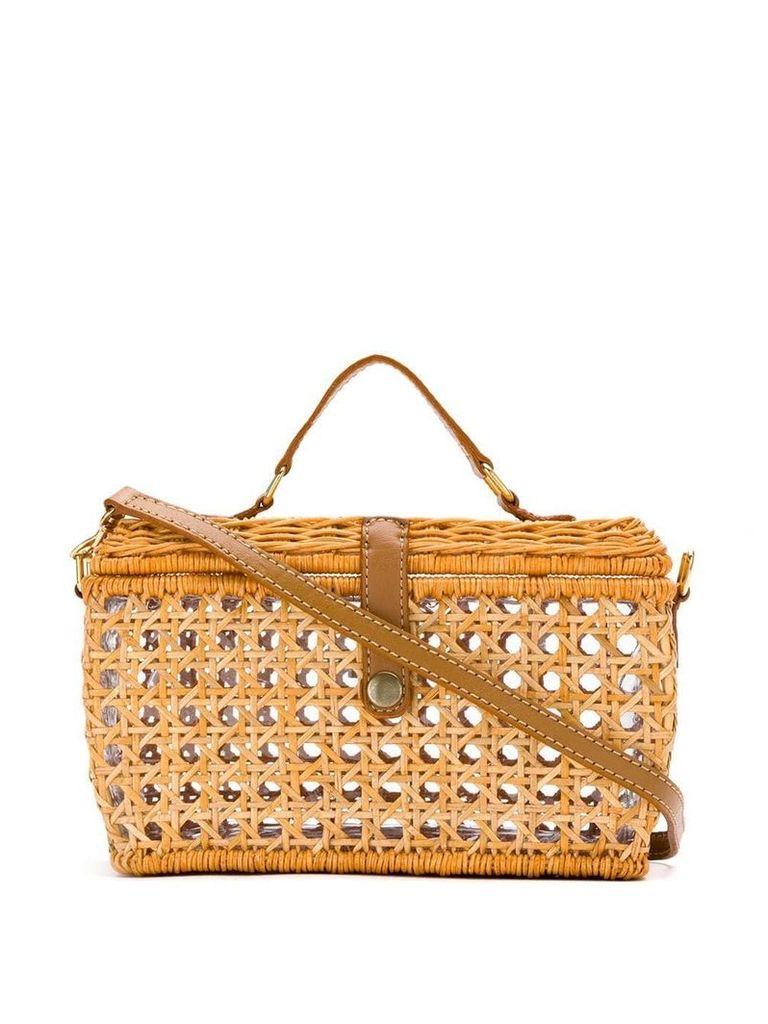 Serpui straw shoulder bag - Neutrals