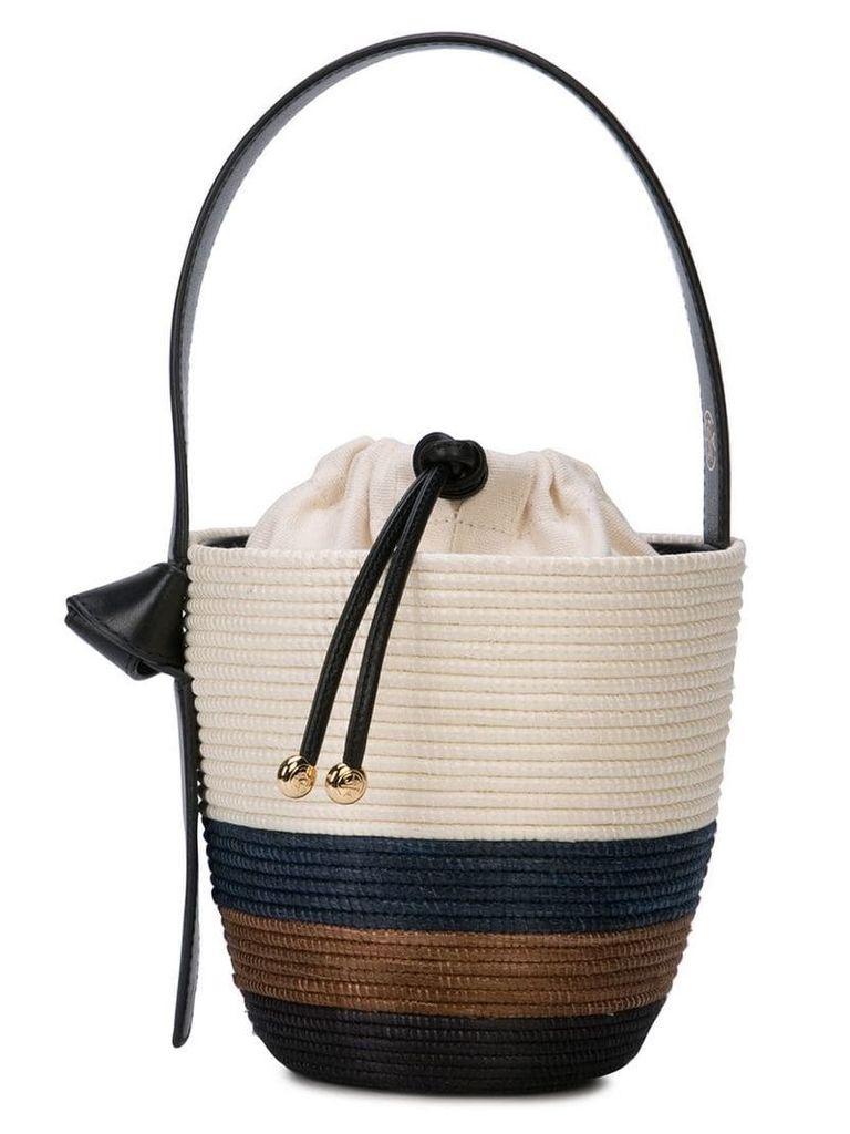 Cesta Collective woven bucket bag - Neutrals