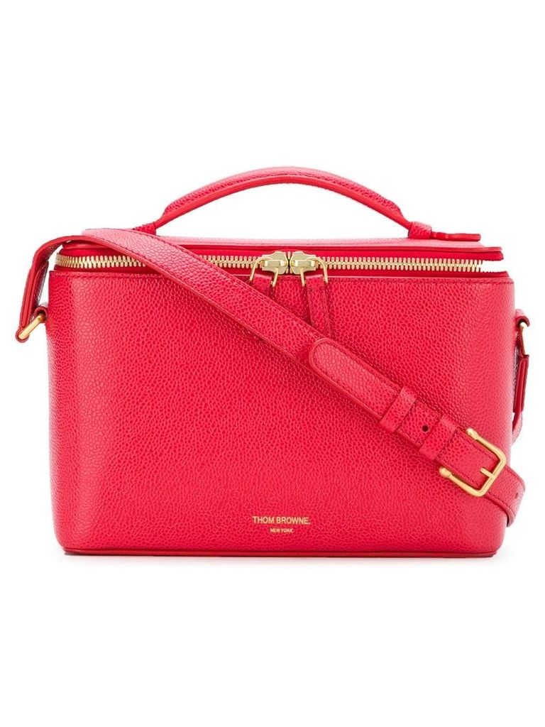 Thom Browne Pebbled Leather Camera Bucket Bag - Red