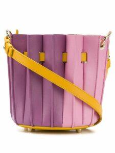 Sara Battaglia Plisse bucket bag - Pink