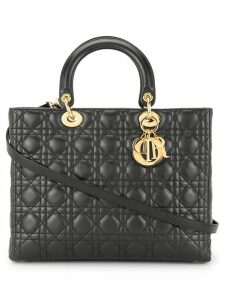 Christian Dior Pre-Owned Lady Dior 2way Hand Bag - Black