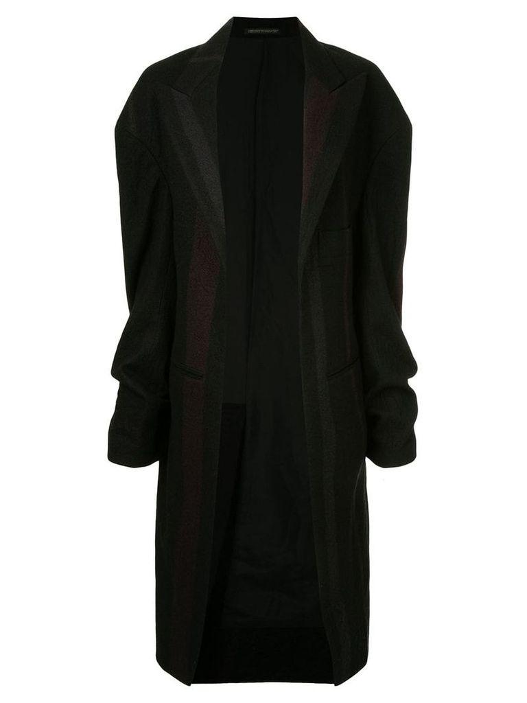 Yohji Yamamoto Pre-Owned deconstructed long coat - Black