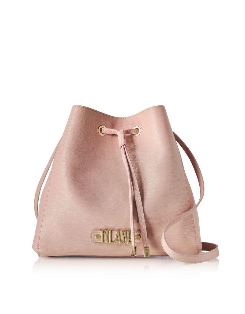 Alviero Martini 1A Classe Designer Handbags, Alegria Smile Saffiano Print Bucket Bag