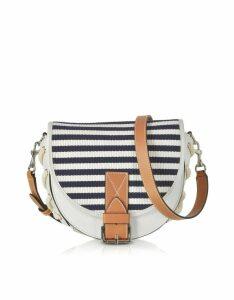 JW Anderson Designer Handbags, Small Bike Striped Canvas Shoulder Bag