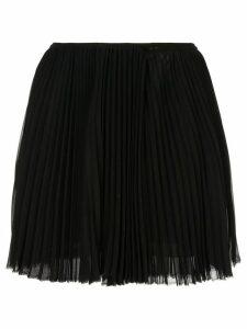 COMME DES GARÇONS PRE-OWNED semi-sheer pleated mini skirt - Black
