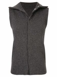 Yohji Yamamoto Pre-Owned slim sleeveless top - Grey