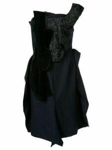 Comme Des Garçons Pre-Owned attached fabric dress - Blue