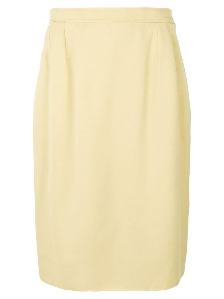 Yves Saint Laurent Vintage straight skirt - Yellow