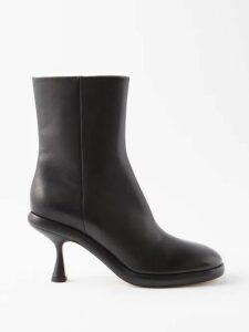 Gül Hürgel - Belted Daisy Print Linen Midi Dress - Womens - Pink Print