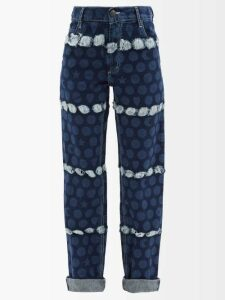 Gül Hürgel - Printed Belted Linen Shirtdress - Womens - Blue Print