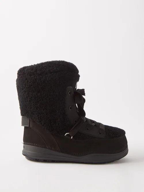 Gül Hürgel - Geometric Print Linen Midi Dress - Womens - Red Print