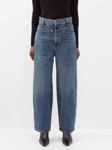 Gül Hürgel - Belted Floral Print Linen Mini Dress - Womens - White Multi