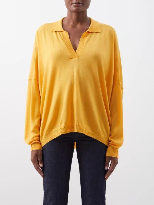 Fendi - Single Breasted Longline Wool Blend Tweed Blazer - Womens - Blue Multi