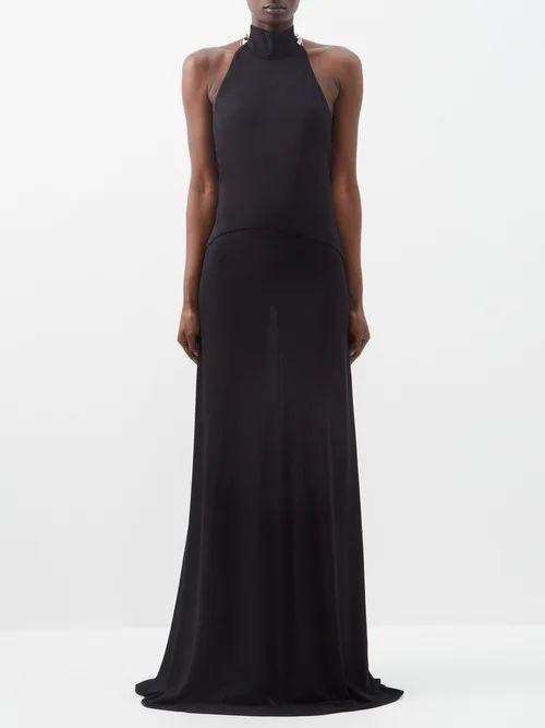 Bottega Veneta - Extra Long Rib Knitted Cashmere Tank Top - Womens - Khaki