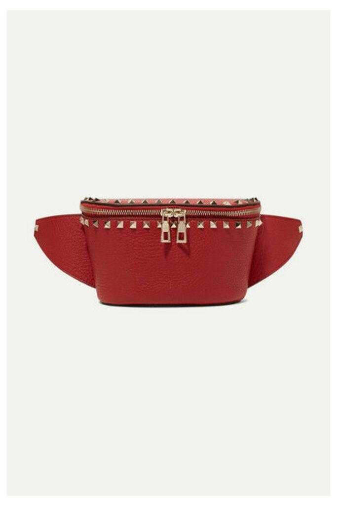 Valentino - Valentino Garavani The Rockstud Textured-leather Belt Bag - 75