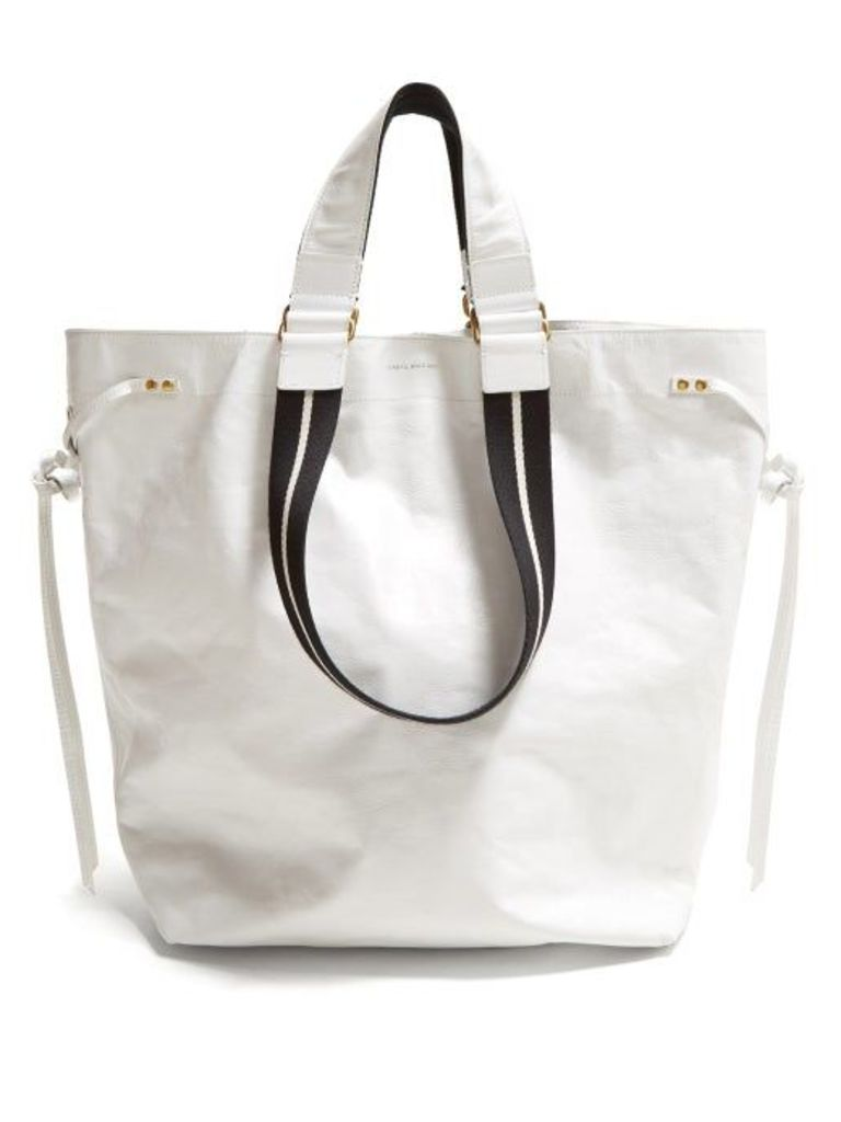 Isabel Marant - Doogan Leather Tote Bag - Womens - White Multi