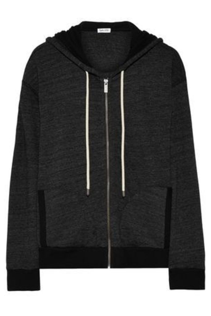 Splendid Woman Jersey Hooded Jacket Black Size XS