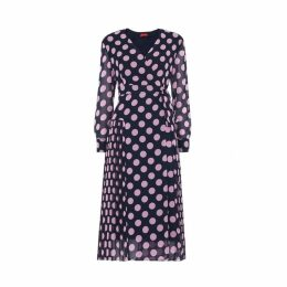 Kitri Jody Polka Dot Wrap Dress
