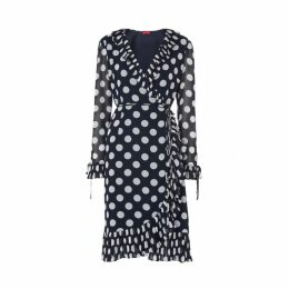 Kitri Anastasia Polka Dot Wrap Dress