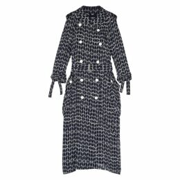 HIGH Dialect Printed Chiffon Trench Coat