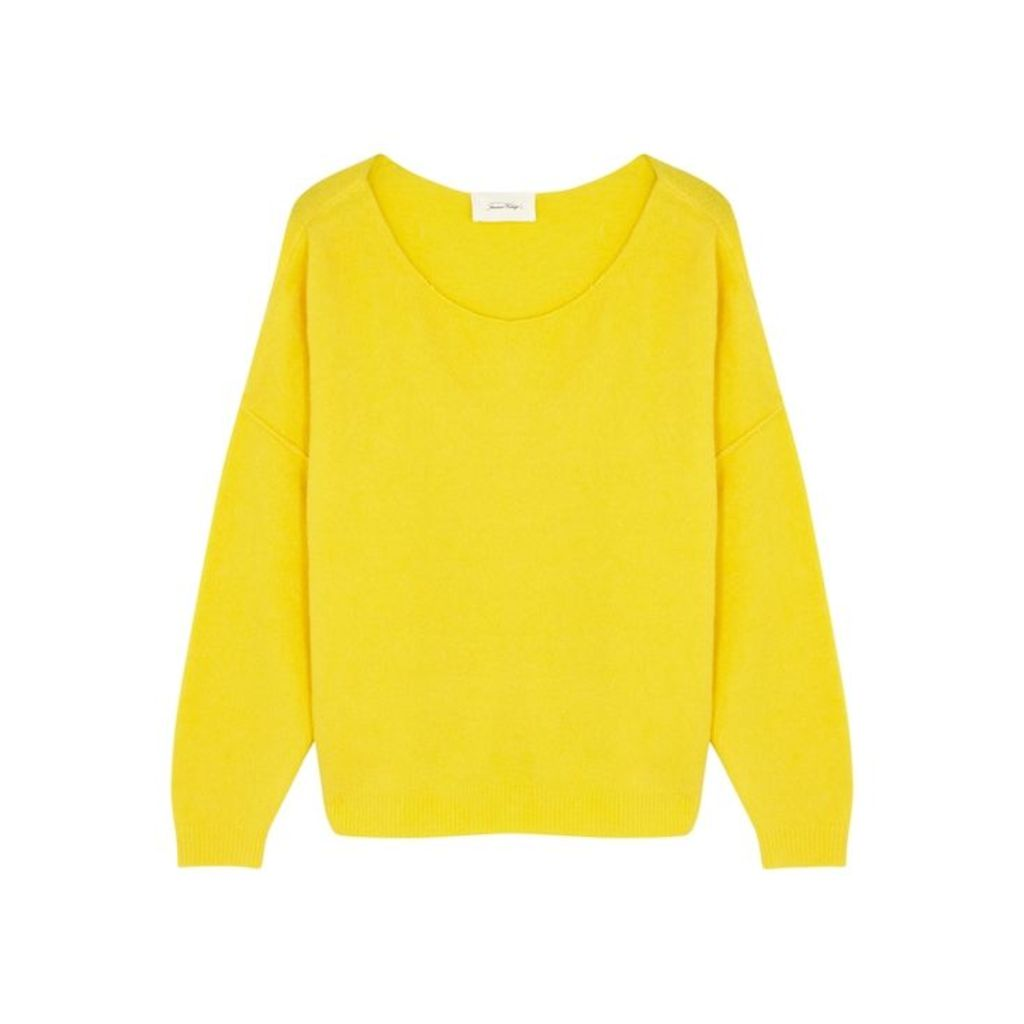 American Vintage Damsville Yellow Knitted Jumper