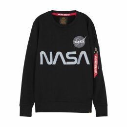 Alpha Industries Nasa Reflective Cotton-blend Sweatshirt