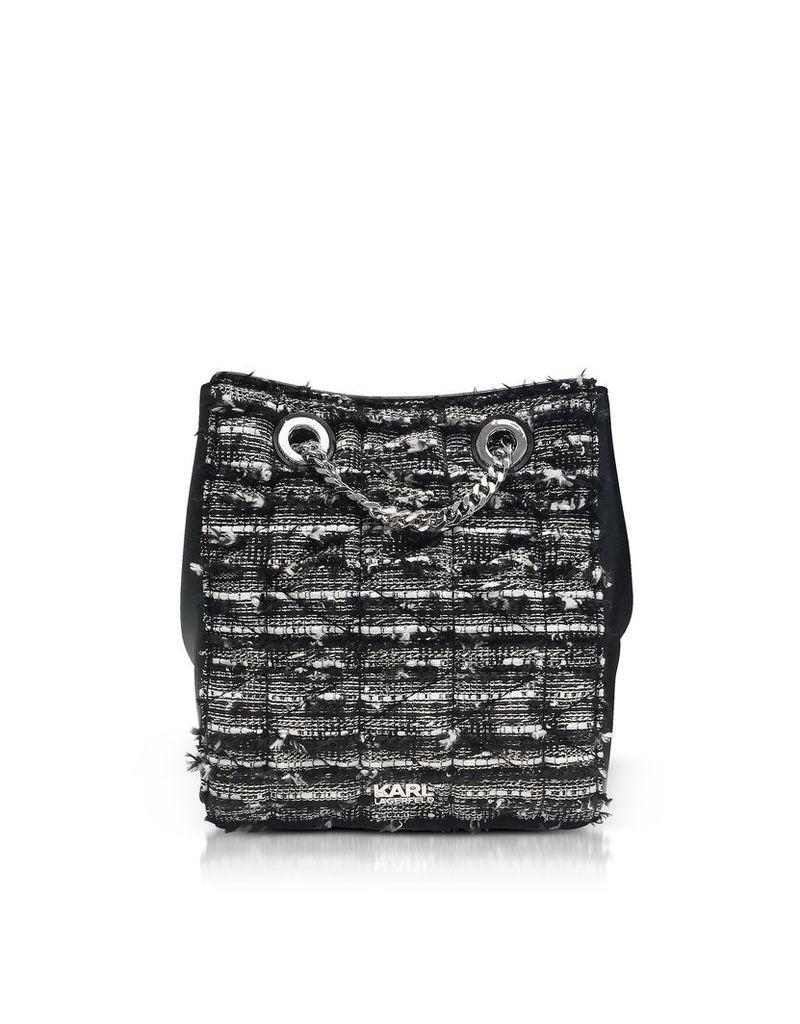 Karl Lagerfeld K/kuilted Tweed Bucket Bag
