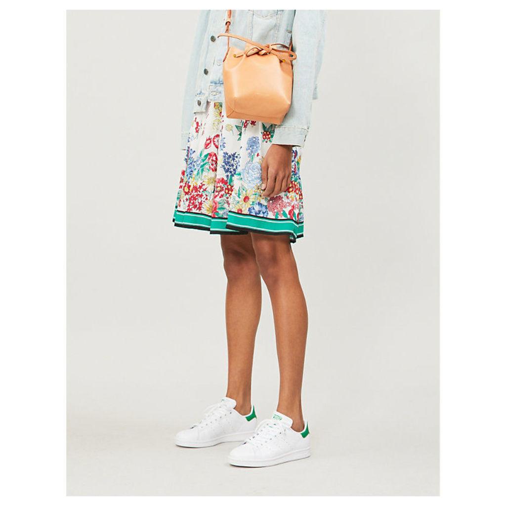 Smile floral-print A-line skirt