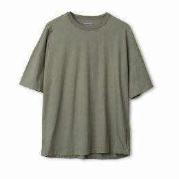 Urban Collective - Oversized Cotton T-Shirt Deep Lichen Green