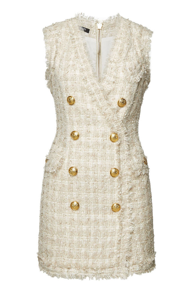 Balmain Tweed Mini Dress with Wool