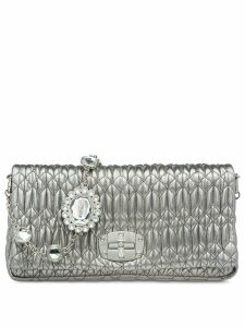 Miu Miu Iconic crystal crossbody bag - Silver