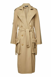 Balmain Trench Coat with Embossed Buttons