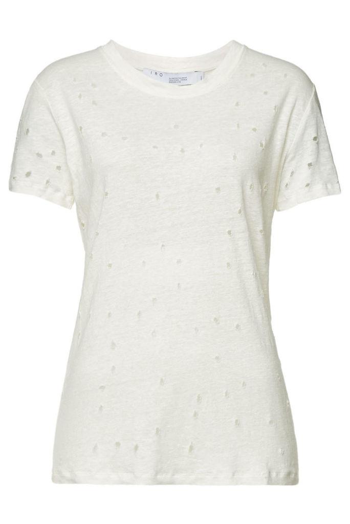 Iro Clay Destroyed Linen T-Shirt