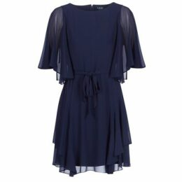 Lauren Ralph Lauren  NAVY-3/4 SLEEVE-DAY DRESS  women's Dress in Blue