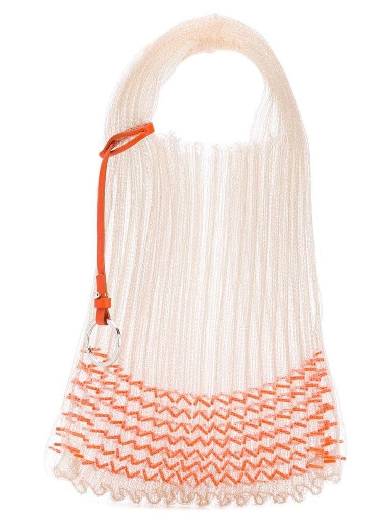 Jil Sander sheer market bag - Neutrals