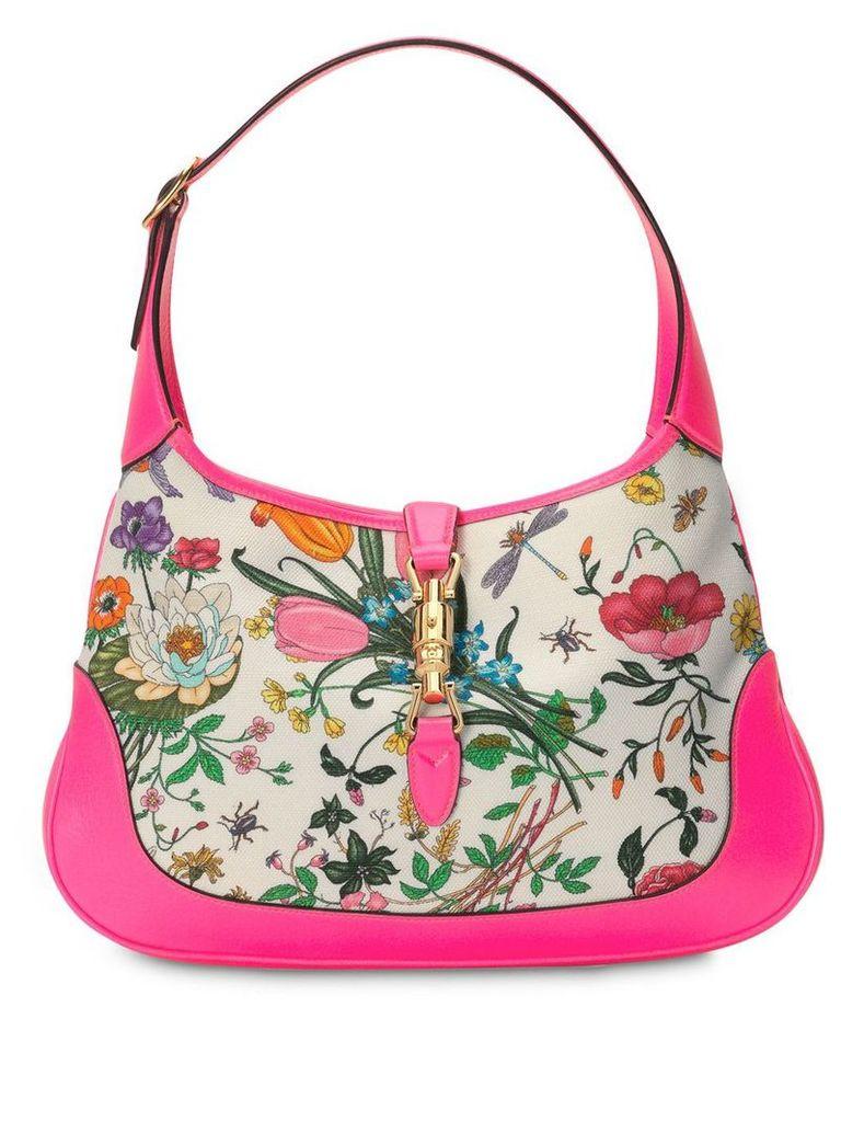 Gucci Jackie medium Flora hobo bag - Pink