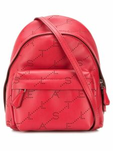 Stella McCartney mini monogram backpack - Red