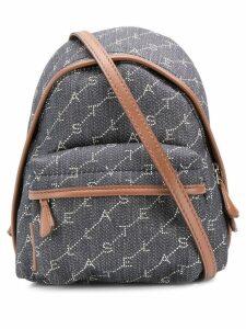 Stella McCartney mini monogram backpack - Blue