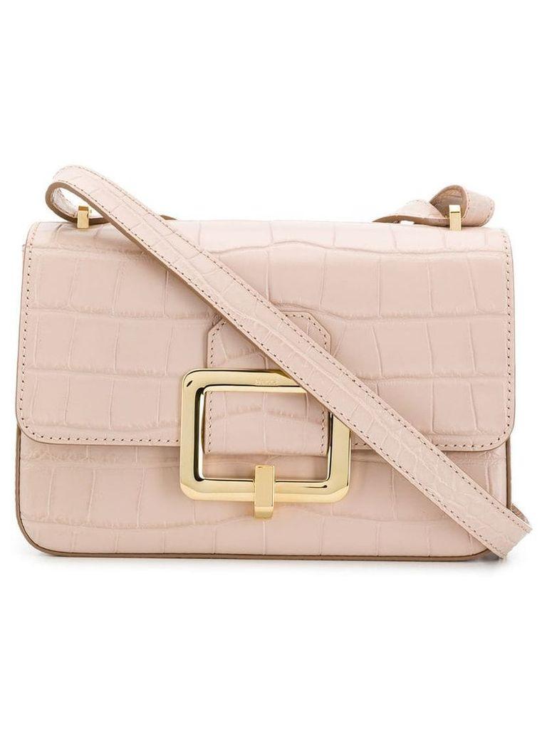 Bally metallic buckle shoulder bag - Pink