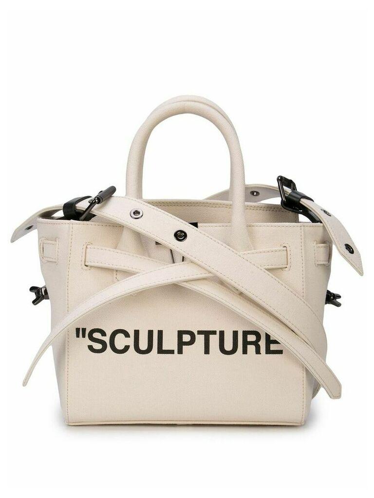 Off-White sculpture tape crossbody bag - Neutrals